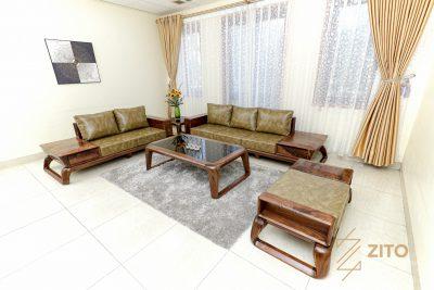 Combo sofa gỗ óc chó ZG 160 cho không gian đẳng cấp