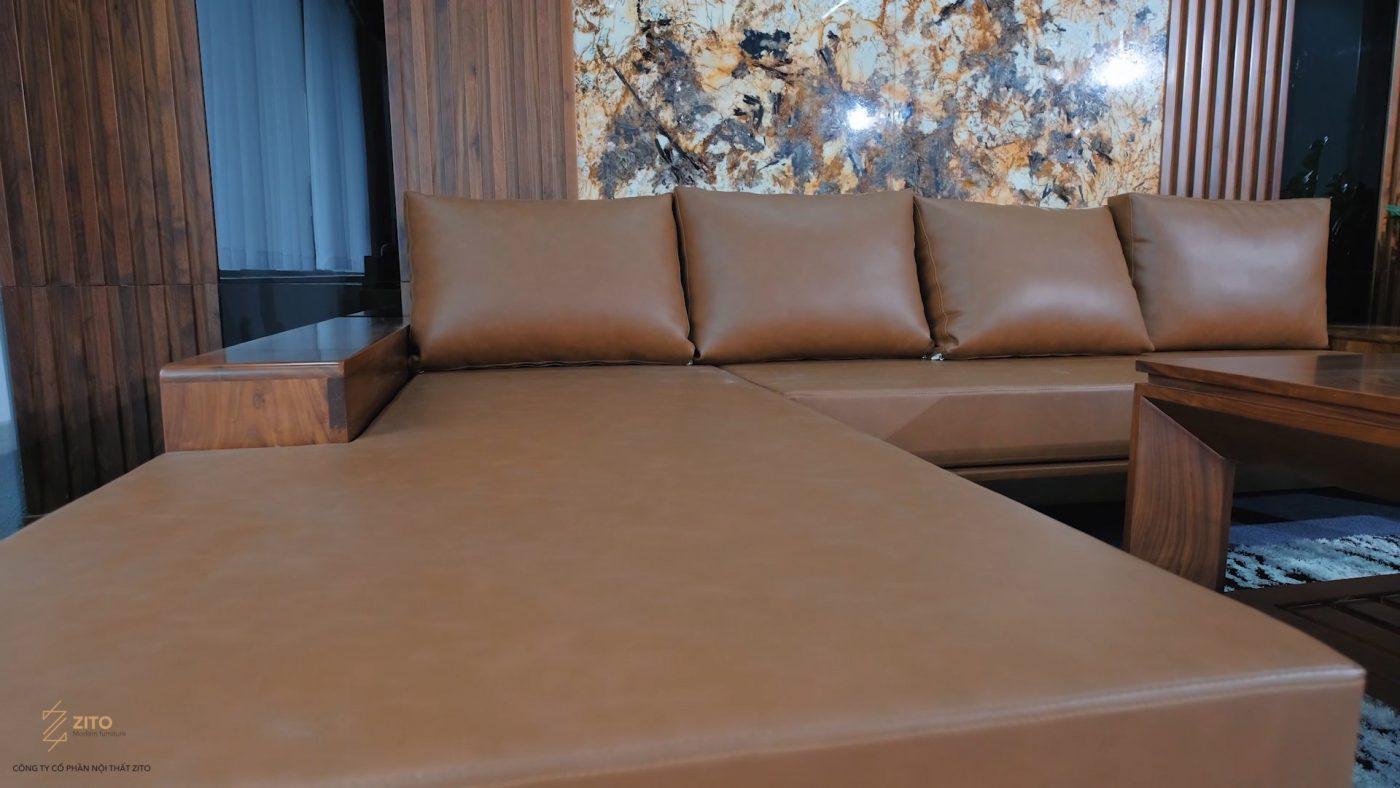chất liệu đệm da cao cấp của bộ bàn ghế zg 132