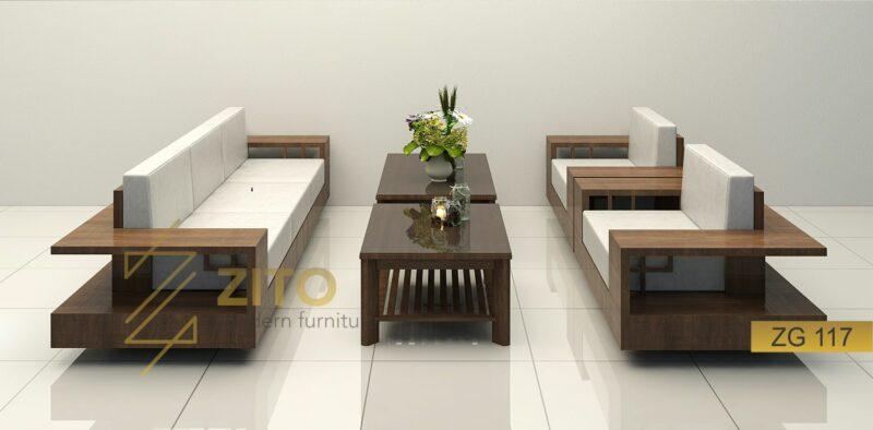 zg 117 thiết kế kiểu sofa chữ U đối xứng