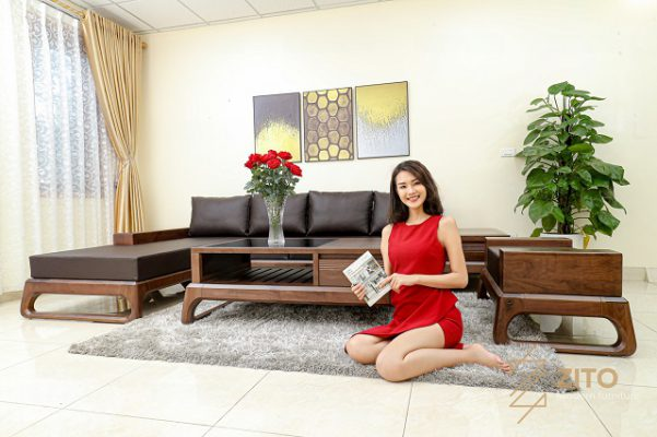 sofa goc L cho phong khach rong