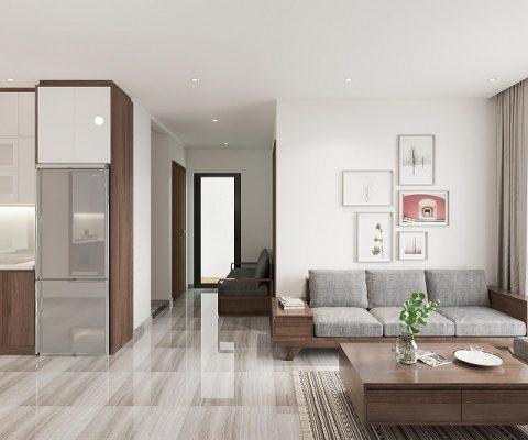 Kích thước sofa phù hợp với phòng khách nhỏ