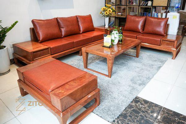 Màu sắc sofa gỗ phù hợp với gia chủ mệnh Thổ