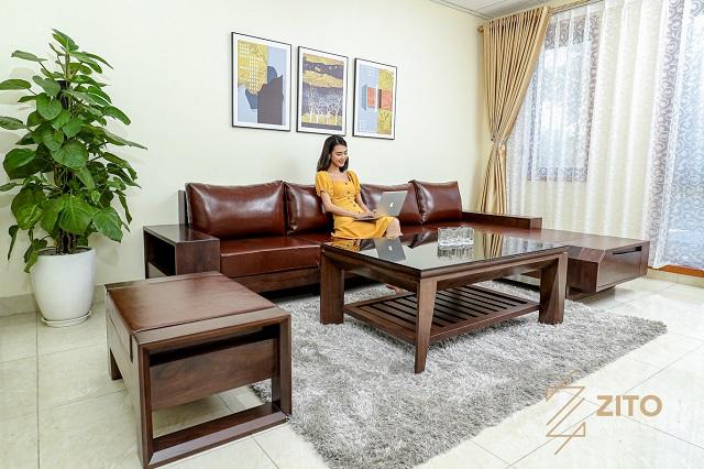 Sofa gỗ đa dạng mẫu mã, kiểu dáng hơn salon gỗ