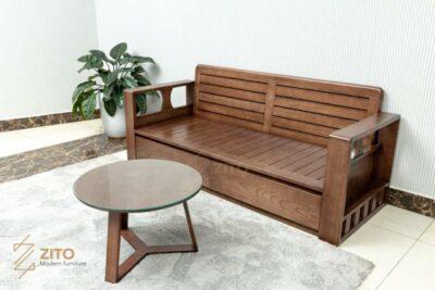 ZG 164 văng gỗ được lựa chọn những phiến gỗ có nhiều vân đẹp