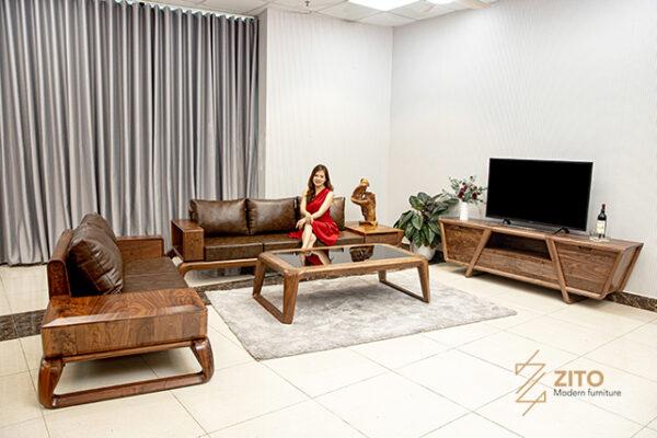 mẫu sofa gỗ cao cấp