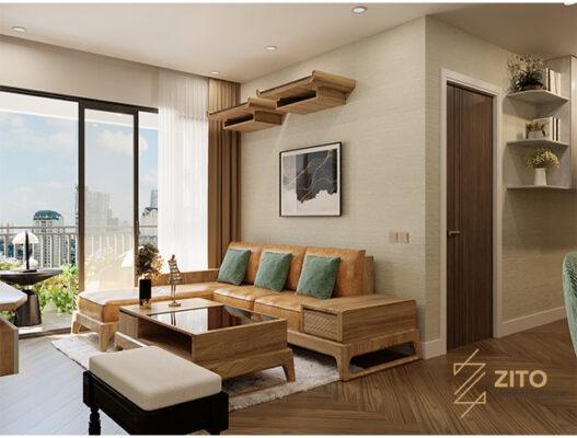 nội thất phòng khách chung cư 54m2