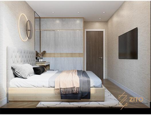 nội thất phòng ngủ chung cư 54m2