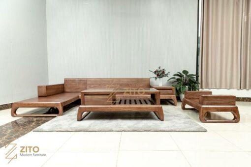 sofa go soi nga goc l Sofa chữ L gỗ Sồi ZG 155 S08