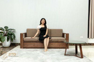 Sofa ZG 164 văng gỗ bảo bối của phòng khách nhỏ hiện nay