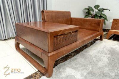 ZG 156 được chọn những tấm gỗ to già giúp bộ sofa có tuổi tho cao