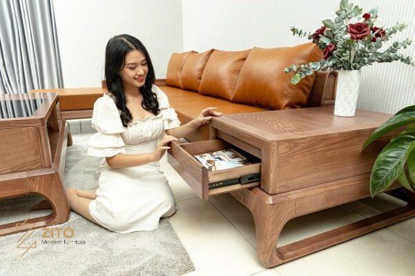 Sofa ZG 155 tích hợp hệ táp ngăn kéo tuyệt vời