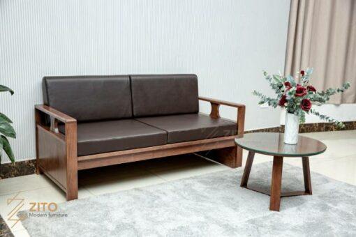 Bộ sofa văng gỗ ZG 163 ví cứu tinh cho không gian phòng khách nhỏ tại chung cư