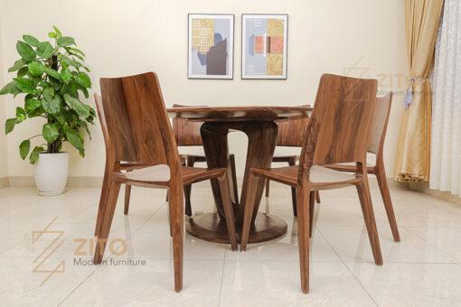 Mẫu ghế ăn gỗ tự nhiên năm 2021