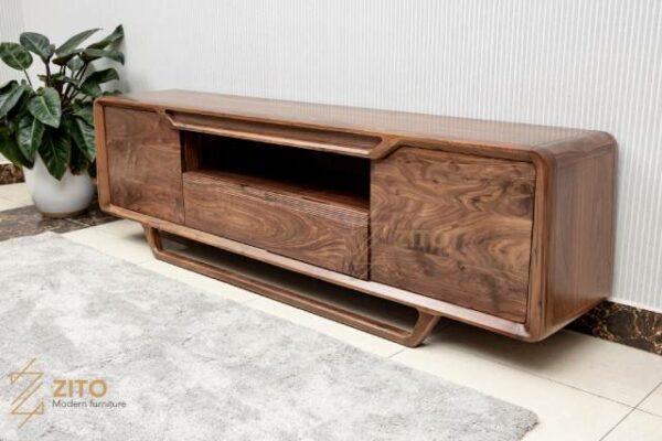 Kệ tivi ZK 512 được làm từ chất liệu gỗ óc chó cao cấp