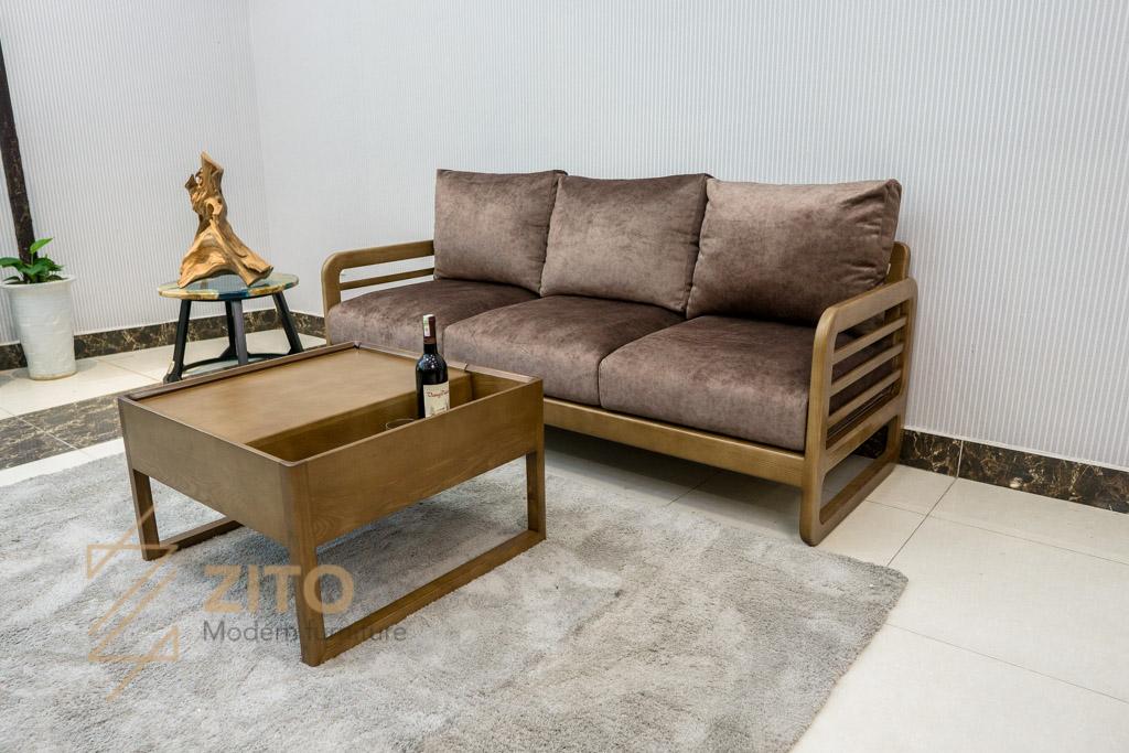 Sofa văng gỗ sồi ZG 165 - Kiểu dáng hiện đại