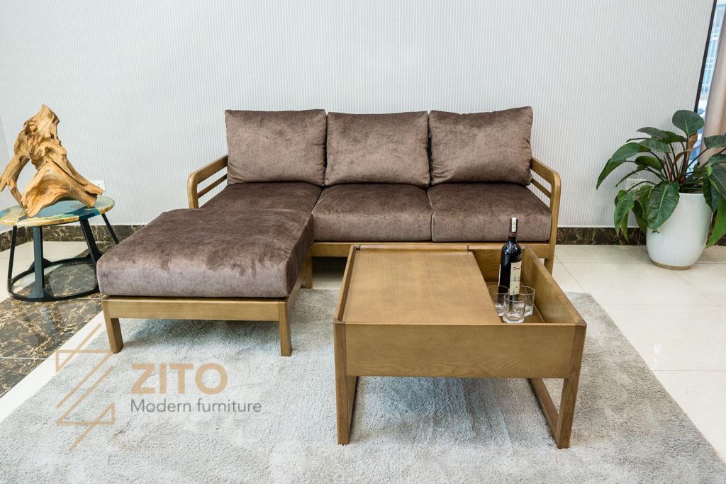 Sofa văng gỗ sồi ZG 165 mini nhỏ gọn hiện đại