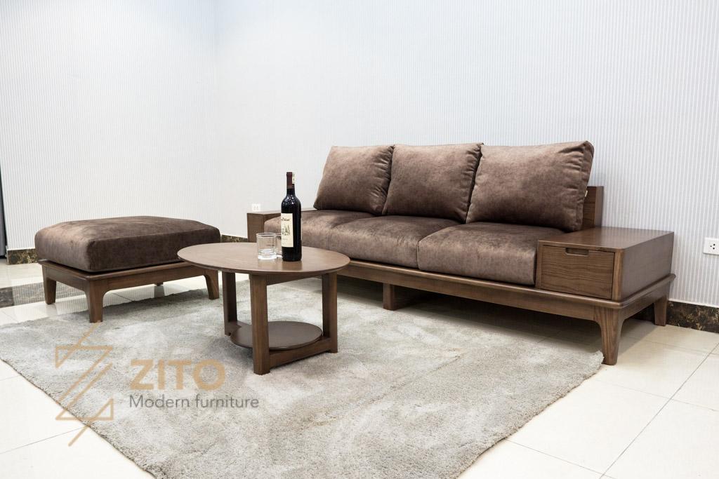 sofa vang go tu nhien zito ZG 166-49