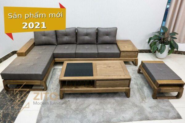 Sofa góc chữ L gỗ sồi ZG 155C porary