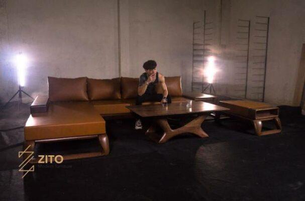 Sofa chữ L gỗ óc chó ZG 161