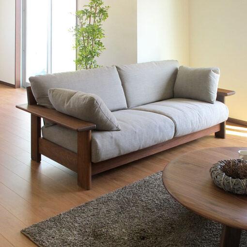 sofa vang go soi tu nhien zito 2 Sofa văng gỗ sồi ZG 167
