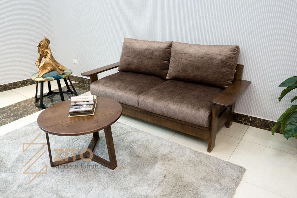 bộ sofa văng gỗ sồi nga zg 167 thiết kế nhỏ gọn sang trong